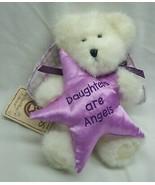 "Boyds WHITE TEDDY BEAR W/ PURPLE STAR ""DAUGHTERS"" 8"" Plush STUFFED ANIMA... - $16.34"