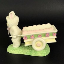 Department 56 Snowbunnies CARTFUL OF CANDY Candy Dish Figurine 2005 New - $24.02