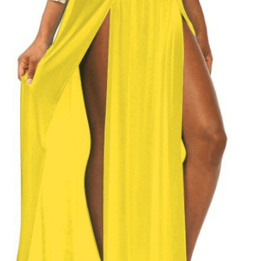 Sexy High Waisted Double Slits Maxi Skirt