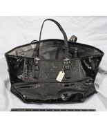 Coach Black Satchel Handbag Shoulder Purse tthc - $183.14