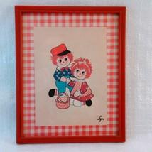 """Print """"Rag Dolls"""" by Lyn 8 1/2 x 10 1/2 Framed Vintage image 2"""