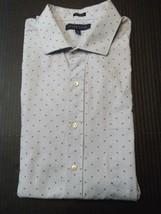 Tommy Hilfiger Mens Shirt Size XL 17-1/2 Long Sleeve Button Up - $18.09