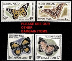 LAOS 1965 BUTTERFLIES / INSECTS SC# 101-103, C46 VF MNH (D0177) - $11.58