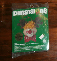 """Reindeer Ornament Dimensions Needlepoint 5"""" Unopened Christmas - $7.84"""