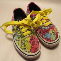 Vans Little Girls sz 11 Colorful Skull Sneakers w/ Arch Support & Padded... - $16.81