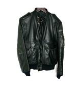 Hein Gericke Women VINTAGE Black Leather Bomber Padded Motorcycle Jacket... - $79.20