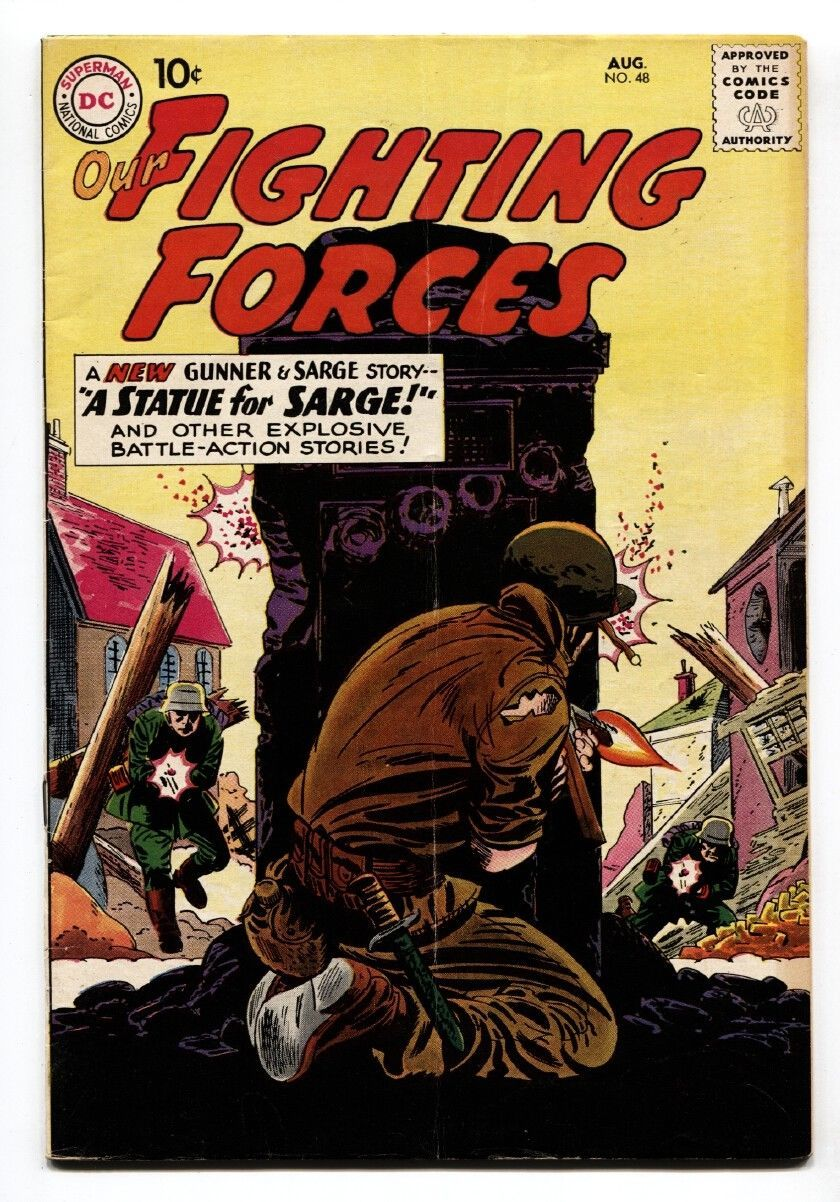 OUR FIGHTING FORCES #48-1959-DC-SILVER AGE-FROGMAN-GUNNER & SARGE