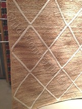 Pottery Barn Jute Lattice Rug Flax Ivory 5x8 New In Wrapping - $129.00