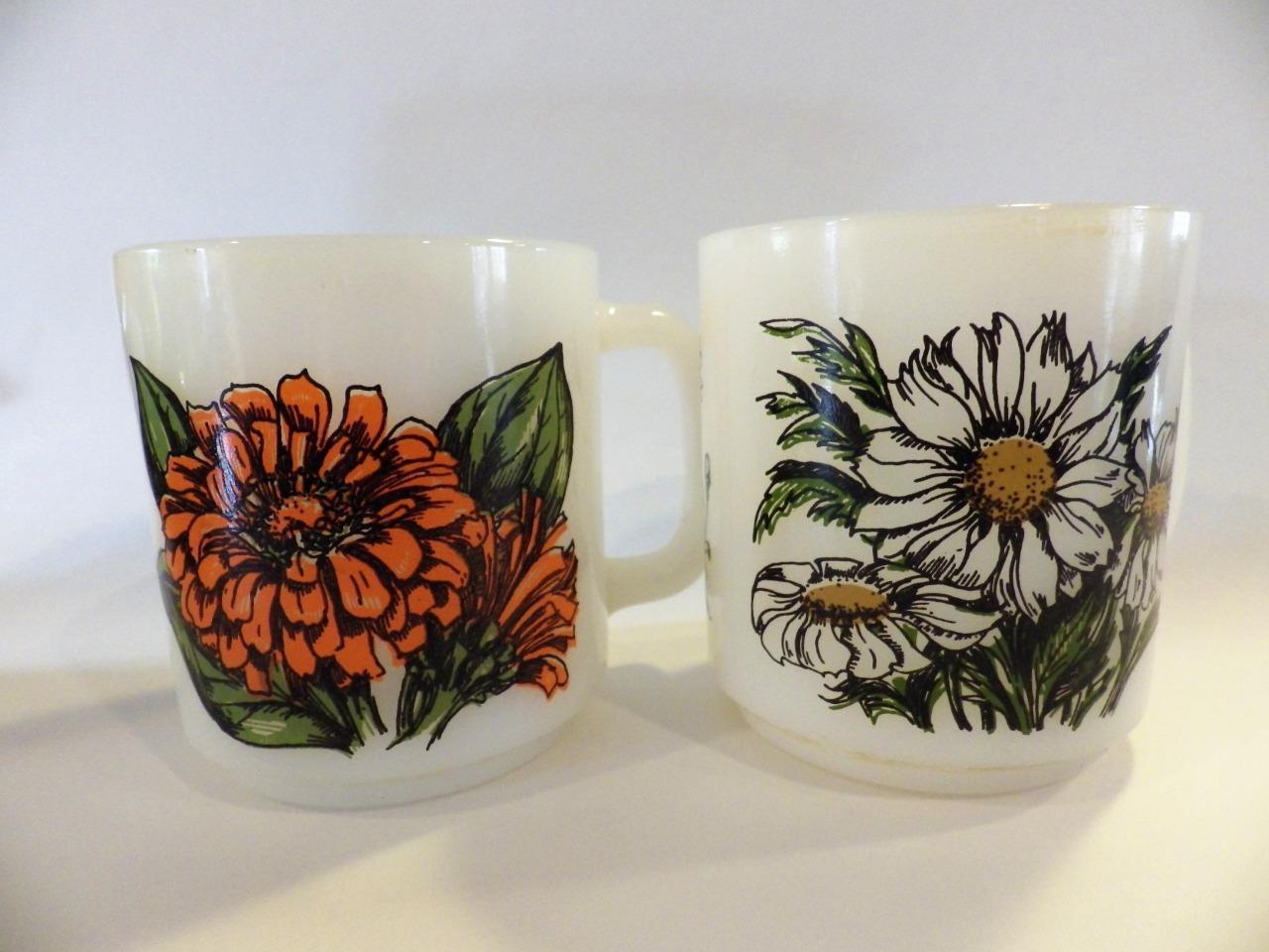 2 Glasbake Vintage Mugs Language Of Flowers And 50 Similar Items