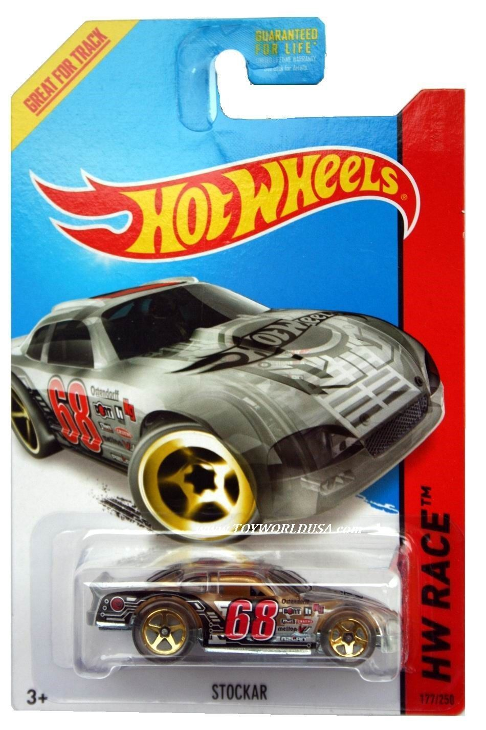 Primary image for 2014 Hot Wheels Car 68 HW Race X-Raycers Stockar Treasure Hunt #177 Clear Gold