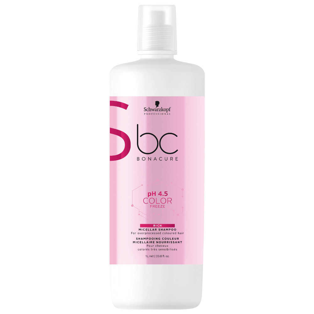 Schwarzkopf Professional pH 4.5 Color Freeze Rich Micellar Shampoo 33.8oz