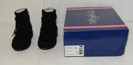 I Love Yo Kids AVA 92T Girls Fringe Boot Black Zip Up Size Six image 1