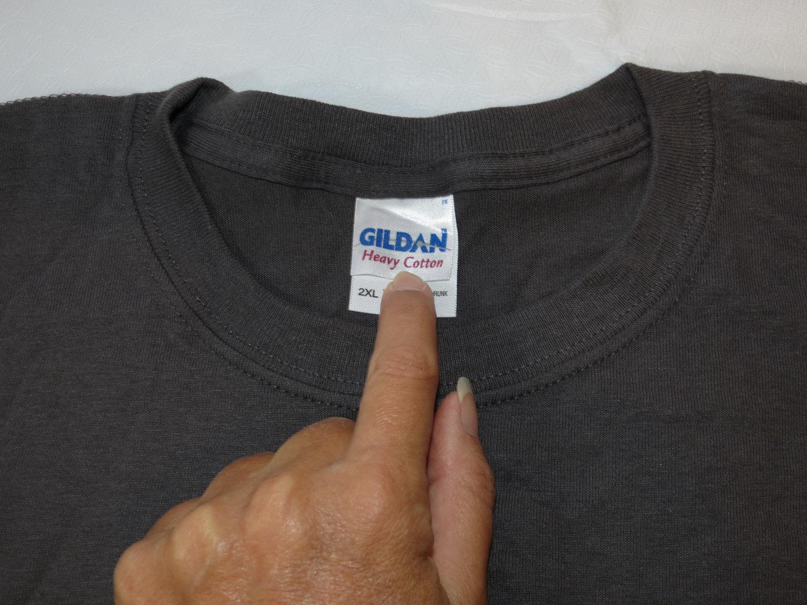 Gildan Heavy Cotton adult 2XL xxlarge mens short sleeve shirt charcoal grey NOS