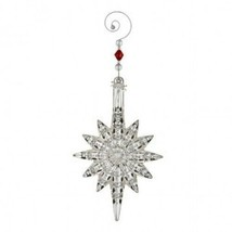 Waterford Crystal 2013 Annual Snowstar ornament with enhancer #160053 - $155.68