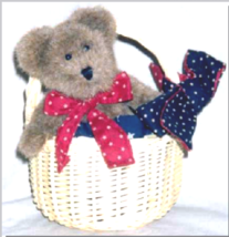 "Boyds Bear ""Iza Basketcase"" 6"" Bear & Basket- #99875V -QVC Exclusive- 2003 - $39.99"