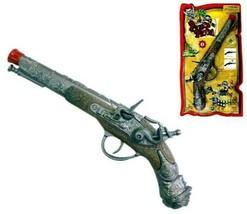 2 DIECAST PIRATE CAP GUN PISTOL play costume pirates die cast metal prop... - $18.00