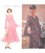 1990s Vintage Simplicity 9127 Misses Flared Dress VNeck Empire Waist 18 ... - $8.95