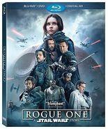 STAR WARS Rogue One Blu Ray DVD Combo Erso rebellion Like New - $11.99