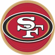 """San Francisco 49ers NFL Football Sports Banquet Party 9"""" Paper Dinner Plates - $7.66"""