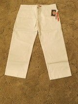 "Dickies Jr Girl's pants size 11 Waist 34.5"" x  Inseam 24""  White - $12.82"