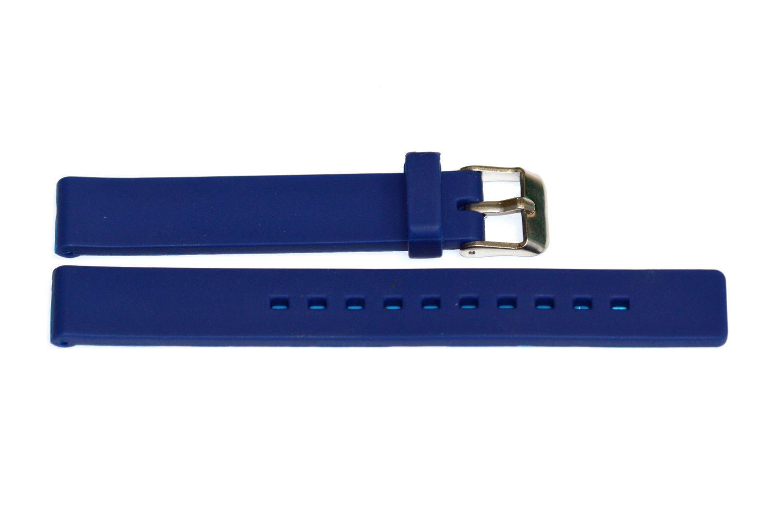 Primary image for 12MM BLUE SMOOTH RUBBER SPORT WATCH BAND STRAP
