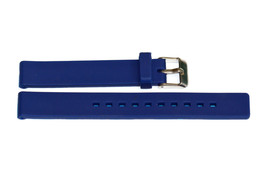 12MM Blue Smooth Rubber Sport Watch Band Strap - $12.38