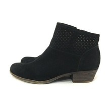 Lucky Brand Women's Size 9 Basiby Black Suede Leather Closed Toe Ankle B... - €15,14 EUR
