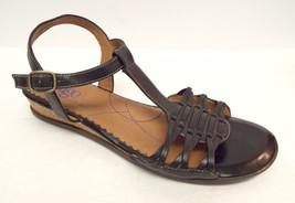 Size 9 CLARKS Strap Shoes Black Ankle 5 Indigo 2 1 Leather Sandals 9 OwSwqxAZ
