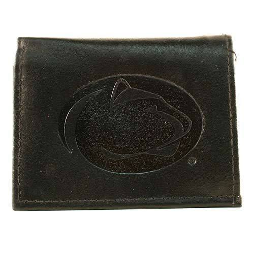 Primary image for Penn State Nittany Lions Wallet Black Tri-Fold Leather  Brand Team NCAA Big Ten