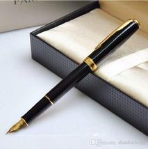 Parker Sonnet Black With Golden Trim M Nib Fountain Pen Crayons Pen - $11.99