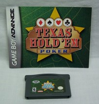 Texas Hold 'Em Poker NINTENDO GAME BOY ADVANCE GAME 2004 with MANUAL - $14.85
