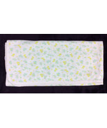 Vintage Carters Baby Blanket Receiving Yellow Green Bears 100% Cotton 36x36 - $72.55
