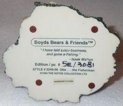 Boyd Bearstone Resin Bears Otis The Fisherman Figurine #2249-06 5E NEW IN BOX image 4