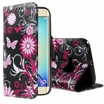 PULeather Phone Cover for Samsung Galaxy S6 edge G925 - Butterflies and Flowers - $2.99