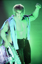 Lou Ferrigno in Torn Shirt Holding Engine the Incredible Hulk 18x24 Poster - $23.99