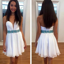 Homecoming Dress, Short Homecoming Dress, White Homecoming Dress - $159.99