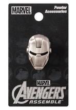 Marvel Comics Iron Man Mask Face Metal Pewter Lapel Pin, NEW UNUSED - $7.84