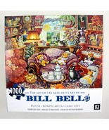 Bill Bell Art Puzzle Teatime For Teddy Bear Tea Party Cats 1000 pc 27x20... - $15.79