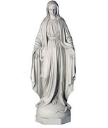 "Virgin Mary Christian sculpture statue 36"" for home or garden - $197.01"