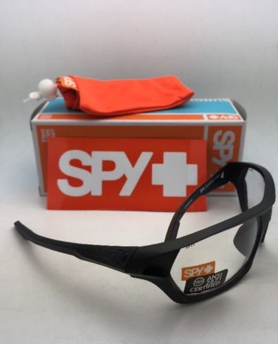 New SPY OPTIC Safety Glasses QUANTA 2 Matte Black Frames with Clear ANSI Z87.1