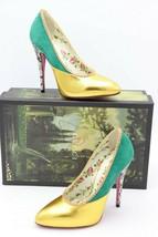NIB Gucci Peachy Embellished Crystal Leather Suede Snakeskin Pump Heels 6 36 New - $595.00