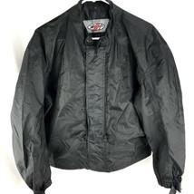 Joe Rocket Motorcycle Rain Windbreaker Jacket Black Mens Large Zip Liner... - $43.70