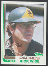 San Diego Padres Rick Wise 1982 Topps Baseball Card # 330 nr mt - $0.50
