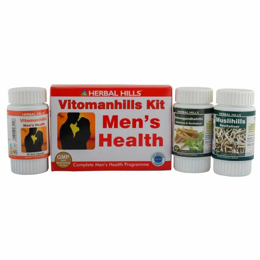 Herbal Hills Vitomanhills Kit for Men Health Supplement