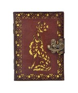 Leather Journal Wolf Cut Work Diary Genuine Handmade Writers, Artists, D... - $24.96