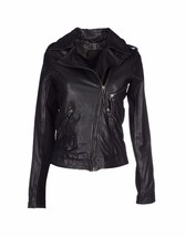 WOMEN BIKER MOTORCYCLE CASUAL SLIM FIT RIDER REAL GENUINE  LEATHER JACKE... - $140.91
