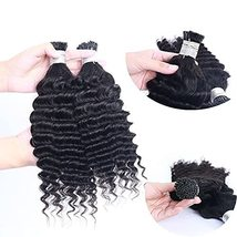 I Tip Human Hair Extension Deep Wave Pre Bonded Brazilian Remy Hair Micro Link S - $130.68