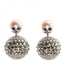 Christian dior crystal mise en dior tribal earrings grey pink 00000 thumb200
