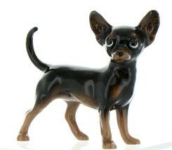Hagen Renaker Pedigree Dog Chihuahua Large Black and Tan Ceramic Figurine image 4