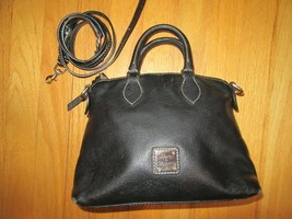 11E/DOONEY & Bourke Small Black Leather 2 Way SATCHEL/SHOULDER BAG/HANDBAG! - $79.15